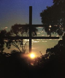 Abbey Cross at Sunrise