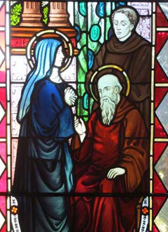 St Benedict Stain Glass
